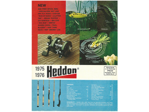 Heddon 1975-1976 Catalog Cover