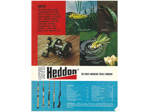 Heddon 1975 Catalog Cover
