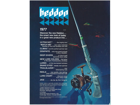 Heddon 1977 Catalog Cover