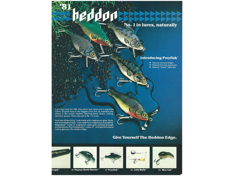 Heddon 1981 Catalog Cover