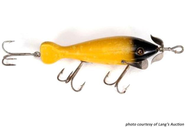 Heddon Spindiver Yellow Black Head