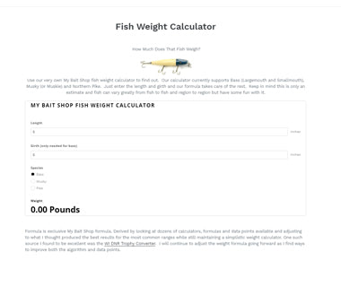Fish Weight Calculator