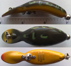 HEDDON TADPOLLY COLOR BF-BULL FROG WHITE EYES YELLOW FACE