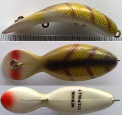 HEDDON TADPOLLY COLOR L-PERCH RED EYES