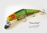 Chautauqua Jointed Minnow Green Freak