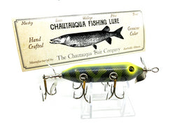 Chautauqua Special Order Wooden 5 Hook Minnow in Electric Tiger Color 2020