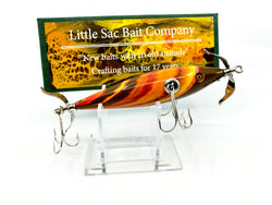 Little Sac Bait Company Musky Niangua Minnow Burnt Lava Color Signed Box 7/40