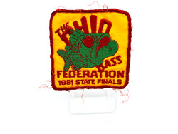 The Ohio Bass Federation 1981 State Finals Fishing Patch