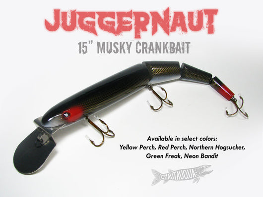 Chautauqua Juggernaut Musky Lure (5 Colors to Choose From)*