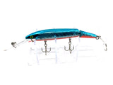 Rebel Jointed Spoonbill Minnow Blue Silver and Red