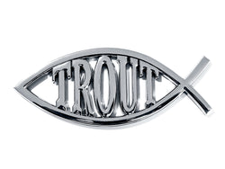 Trout Custom Car / Truck Emblem