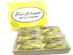 Arbogast Dealer Box of Six Mud Bugs New in Boxes
