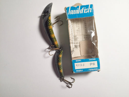 Vintage Kwikfish K10J PS Perch Scale Color Jointed