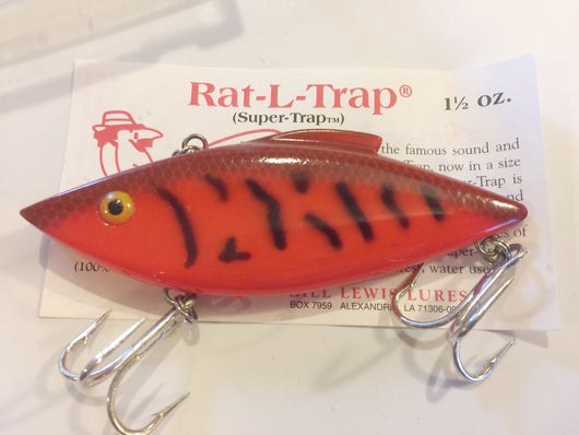 Bill Lewis Rat-L-Trap Super Trap Orange and Black HUGE lure