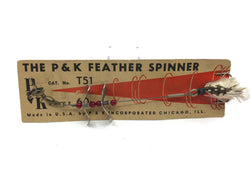 P & K Feather Spinner T51 on Original Card