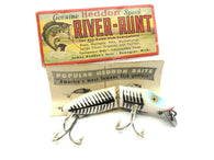 Heddon Jointed Floating River Runt 9430 XBP Pearl and Black Shore Minnow Color with Box