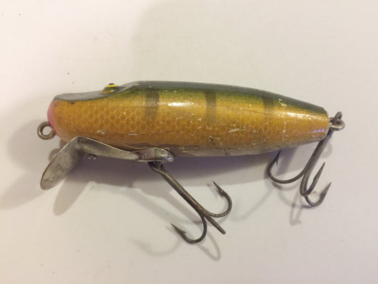 Paw Paw Lippy Joe Wooden Lure Green Perch Color