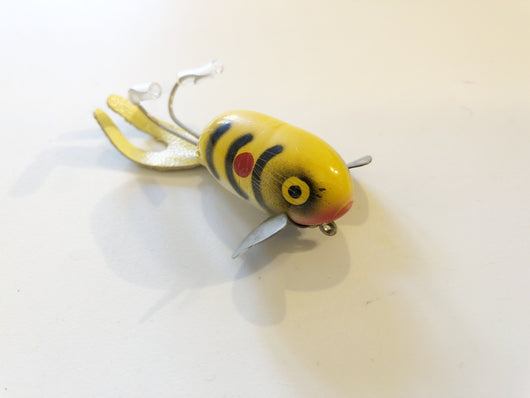 Falls Bait Company Fish 'N Fool Yellow with Black Ribs and Red Dot