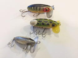 Jitterbug Lot Plastic Lip WWII Lot of 3