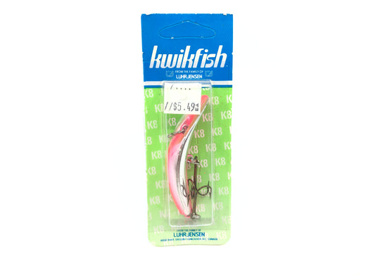 Kwikfish K8 Color 930 Silver Fire Stripe (SPR) New on Card Old Stock