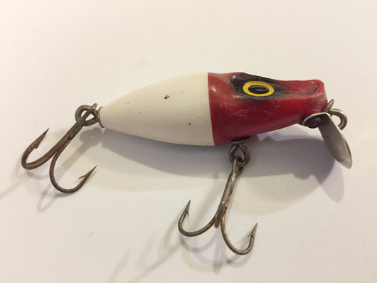 Millsite Baby 99'R Sinker Red and White Antique Fishing Lure