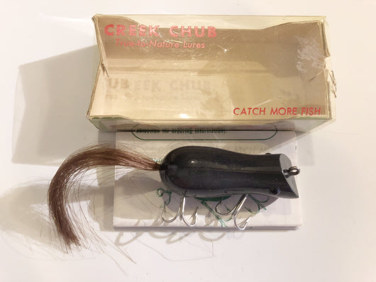 Creek Chub Vintage 6380 G Mouse in Gray New in Box