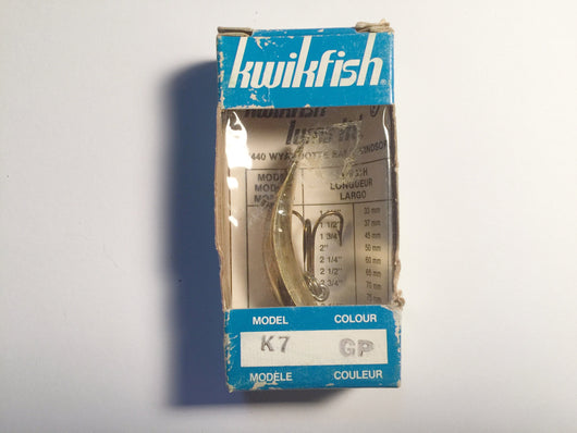 Vintage Kwikfish G7 P New In Box Gold Color