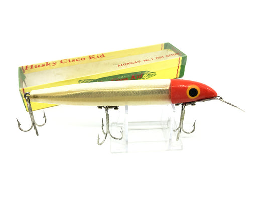 Husky Cisco Kid Musky Lure Red Head White Body 613 Color with Box
