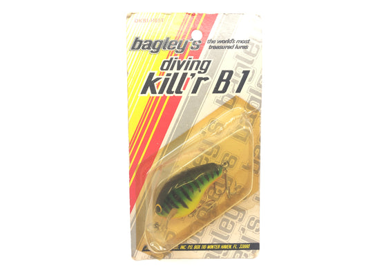 Bagley Diving Kill'r B1 DKB1-H69T Hot Tiger Color New on Card Old Stock