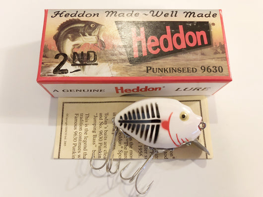 Heddon 9630 2nd Punkinseed XWB White and Black Shore Color New in Box