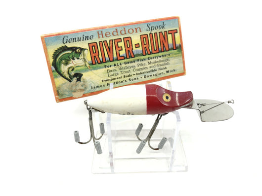Heddon Go Deeper River Runt D-9110-RH Red Head White Color with Box