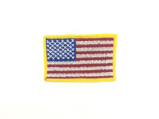 American Flag Patch Yellow Border