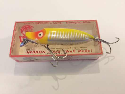 Heddon River Runt Yellow Shore Floater New in Box