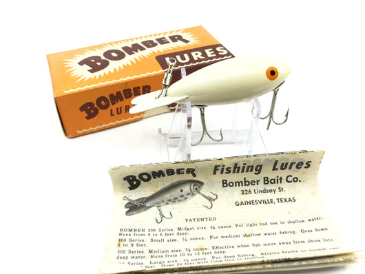 Vintage Wooden Bomber 401 White with Box and Paper Insert