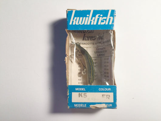 Vintage Kwikfish K5 FR Frog Color