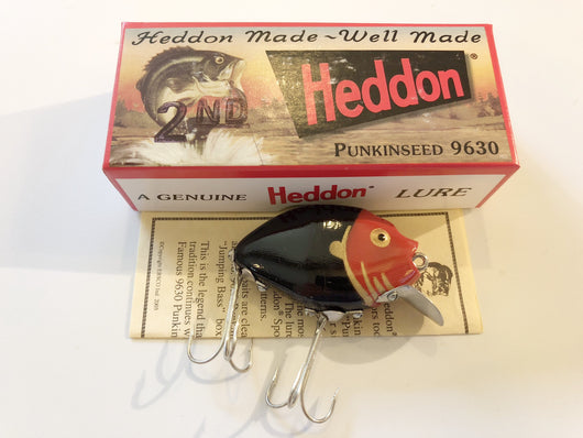 Heddon 9630 2nd Punkinseed BKRHG Black Red Head Color New in Box