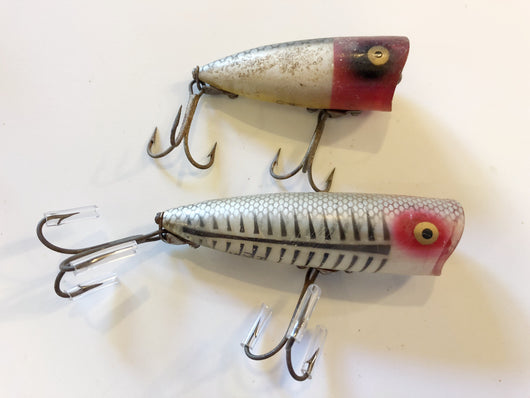 Heddon Chugger and Chugger Jr Lot of Two