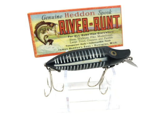 Heddon River Runt Spook Floater 9400-XBW Black Shore Color with Box
