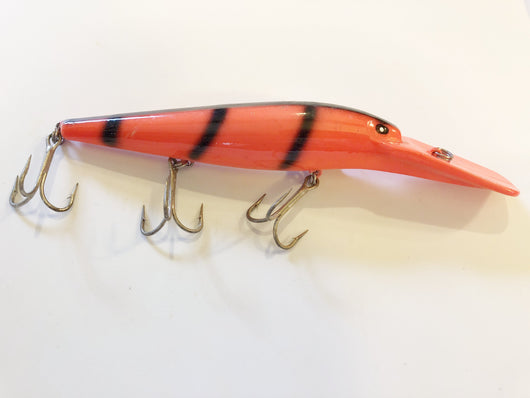 Orange and Black Musky Lure Big Diving Lip