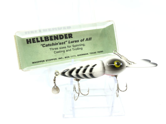Whopper Stopper Hellbender 1107 White with Black Ribs Color New with Box
