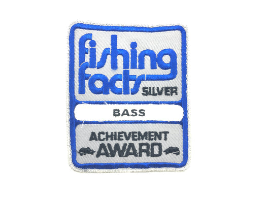 Fishing Facts Silver Achievement Award Bass Patch