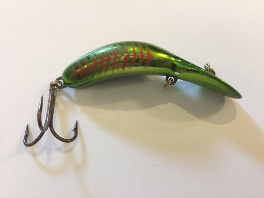 Heddon Tadpolly Clatter Tad Green Red Stripes