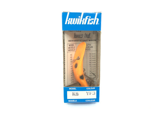 Kwikfish K8 YFB Yellow Fluorescent Black Spots Color New in Box Old Stock