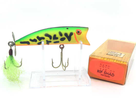 Bomber Popper Fluorescent Green with Tail, Spinner & Rip Shad Box