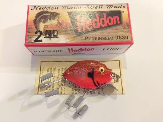 Heddon 9630 Punkinseed CBO Red Crayfish Color New in Box