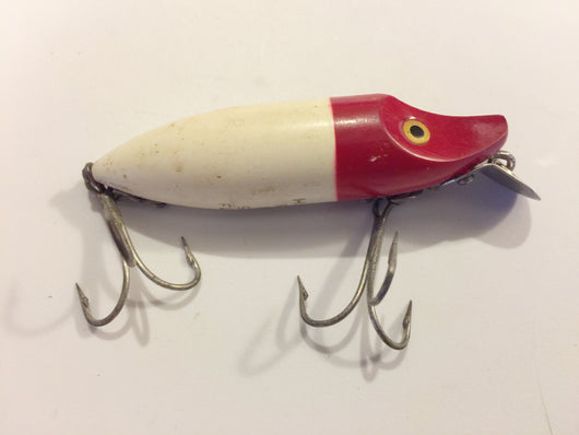 Heddon River Runt Red Head White Body Spook Floater