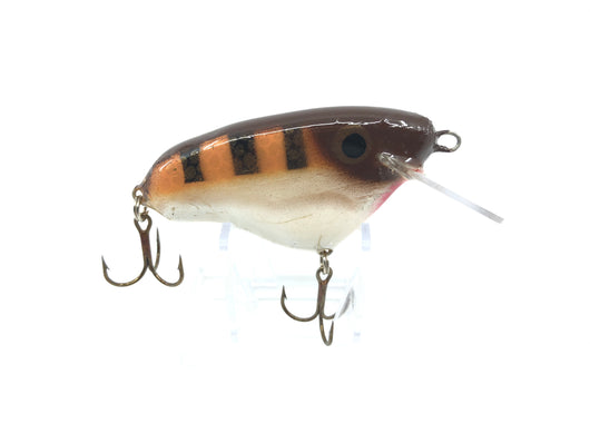 Crane Wooden Musky Lure 103 in Brown Perch Color