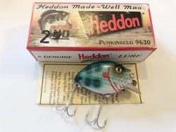 Heddon 9630 2nd Punkinseed FLS Green Scale Spots Color New in Box