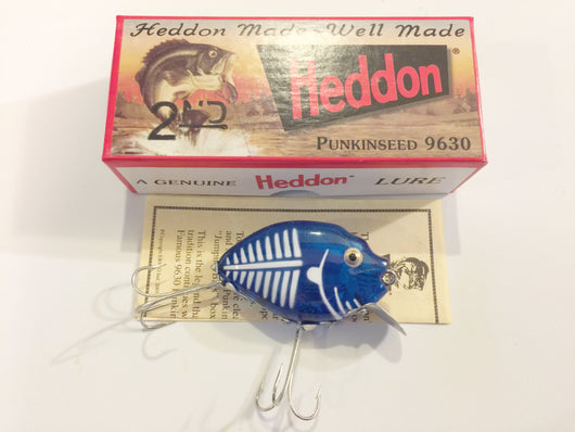 Heddon 9630 2nd Punkinseed BWBG Cobalt Blue Shore Color New in Box