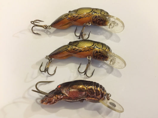 Rebel Crawfish Lot of 3